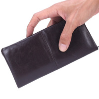2017 Male Wallet Two Folded Genuine Leather Hand Take Notecase Soft Cowhide Leisure Long Purse For Men And Women PR069075