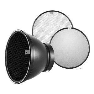 Image 5 - Abat jour de diffuseur de réflecteur de bâti delinchrom de 210mm avec des grilles de nid dabeilles de 10/30/50 degrés pour le Flash Flash de stroboscope Speedlite