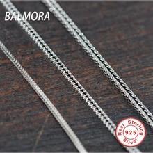 100% puro de ley 925 Joyas de plata colas/chopin cadenas para los hombres de calidad superior de Tailandia Plata collares Envío Gratis JLC001-1