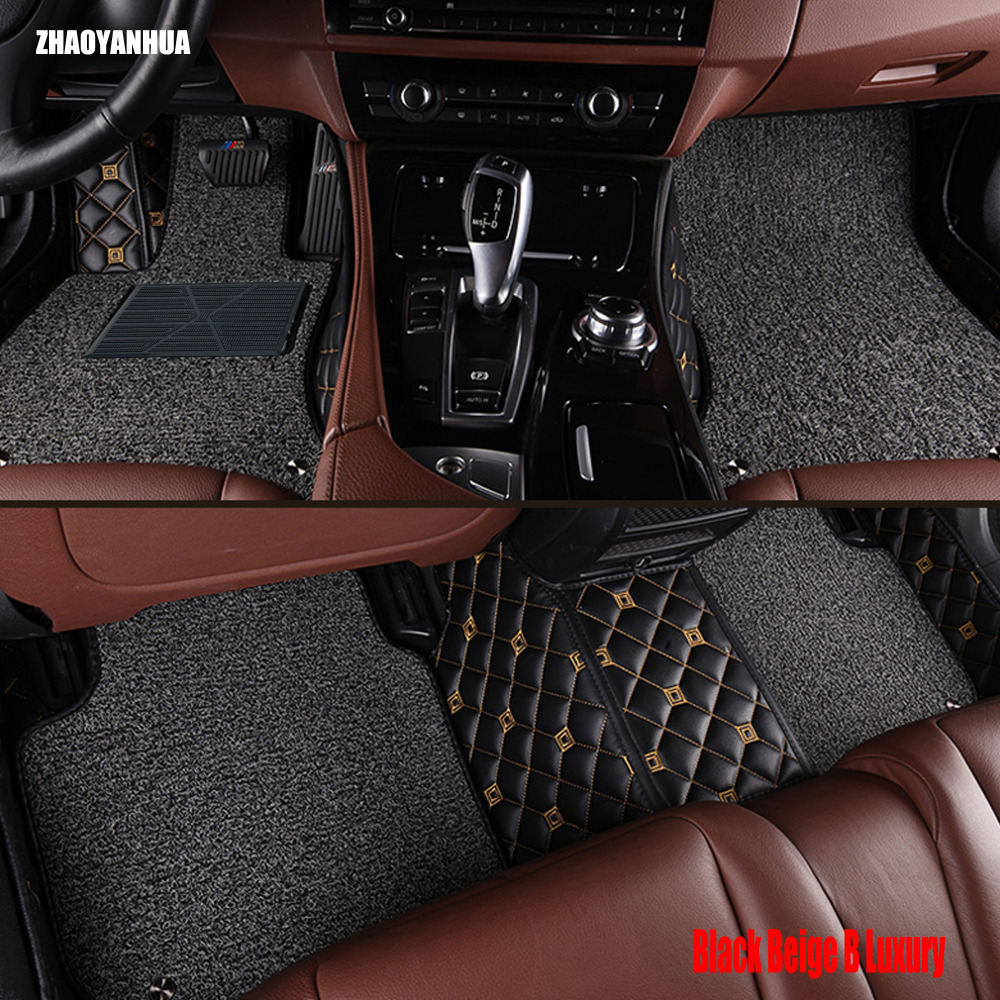 Zhaoyanhua car floor mats for audi a6 c5 c6 c7 a4 b6 b7 b8 allroad avant a3 a5 a7 a8 a8l q3 q5 q7 6d car styling carpet liners