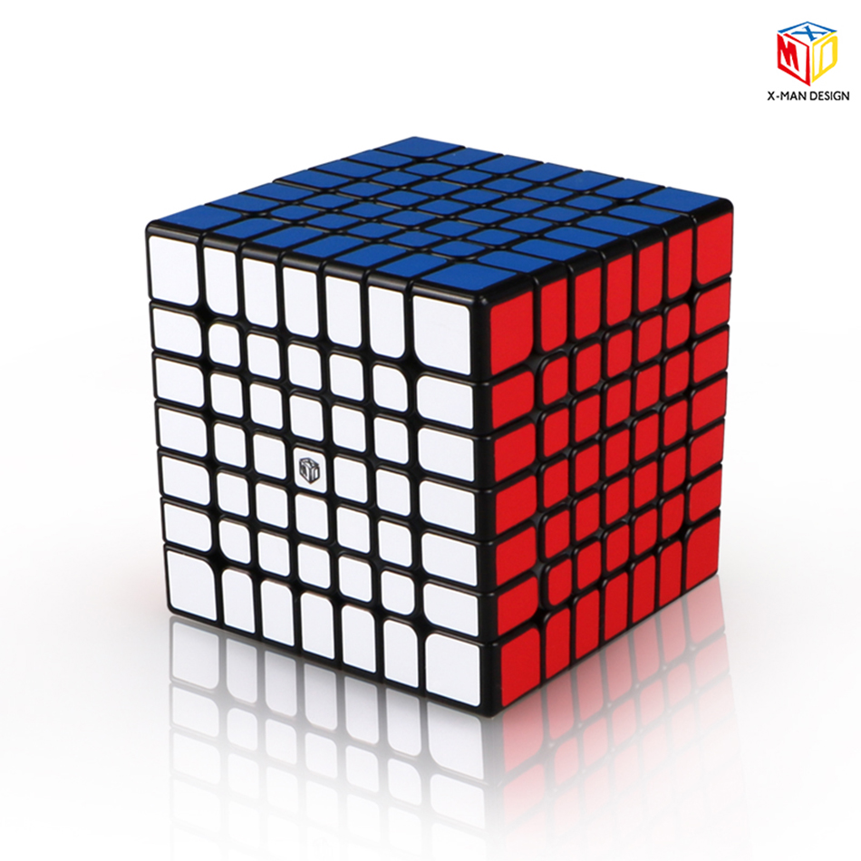 QiYi x-man Design Spark 7X7 cube magnétique sans autocollant/noir Mofangge qiyi Spark 7*7 Cubes de vitesse jouet WCA Puzzle Cube magique - 3