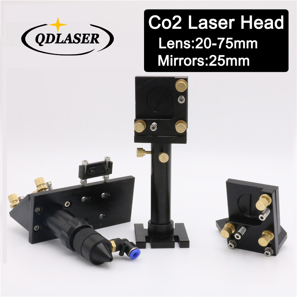CO2 Laser Head Integrative Mirror Mounts Set for Laser Focal Lens 20mm-75mm&Reflective 25mm co2 laser head mirror and lens integrative mount laser cutting engraving