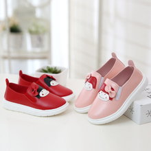 2017 new children's shoes girls Microfiber pickup through doll round lovely student fashion shoes casual shoes size 26-36