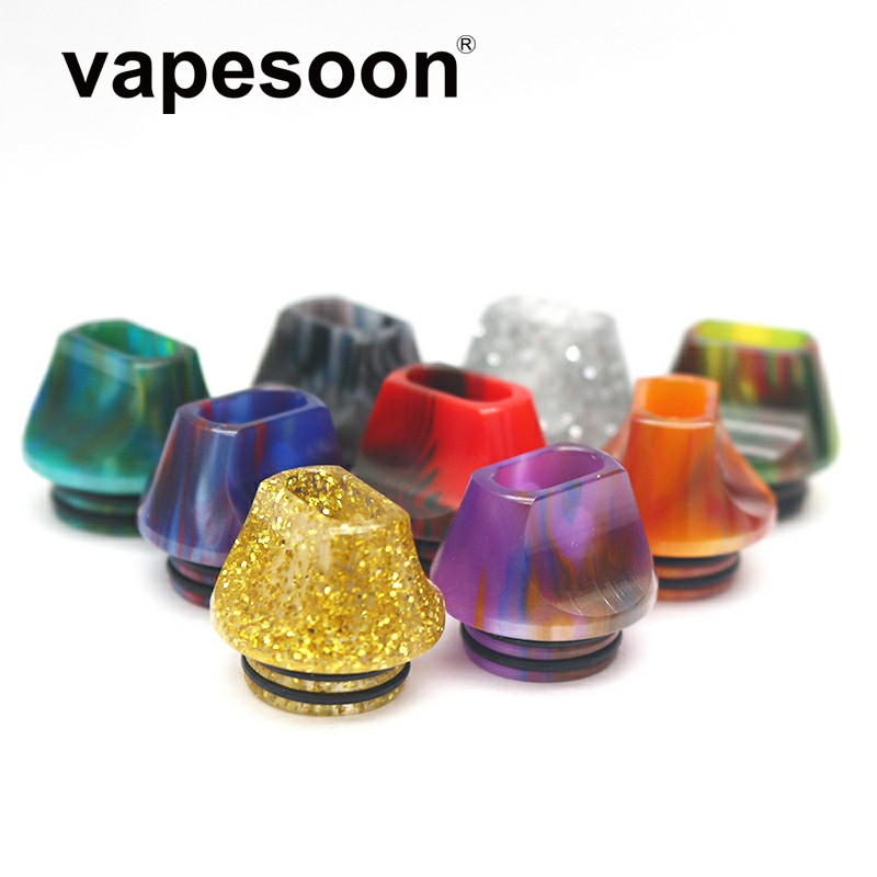 25pcs vapesoon Unique Design 810 Epoxy Resin Drip Tip For 810 RDA RTA Atomizer With Double O Ring Mushroom Head Flat Mouthpiece-in Electronic Cigarette Accessories from Consumer Electronics    1