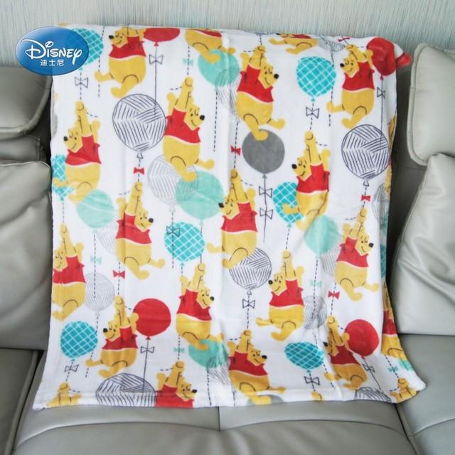 Disney Cho Bé Winnie Chuột Minnie Ariel Sang Trọng Dép Nỉ Chăn Khăn Unisex Bé Trai Bé Gái Tặng Mèo Cưng Ném vào Cũi giường Máy Bay