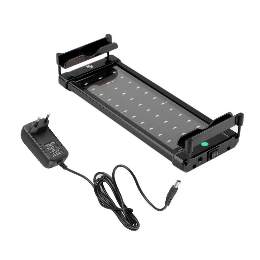 Waterproof Underwater Aquarium Fish Tank Fishbowl Lighting SMD 6W 28 CM LED Light EU Plug Bar Submersible Light Lamp