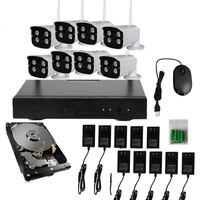 JSA 8CH 720P HD Wireless IP Camera CCTV System Wireless NVR IR CUT Bullet CCTV Camera