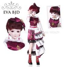 1/3 BJD Doll 60cm 19 jointed dolls Feering Fairy Girl doll ( Free Eyes + Hair + Makeup + Clothes + Shoes )  EVA BJD DA001-06