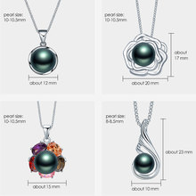 Black Natural Pearl Pendant Necklace
