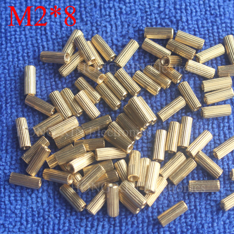 M2*8 1Pcs Brass Spacer Standoff 8mm Female To Female Standoffs column cylindrical High Quality 1 piece sale m2 5 3 1pcs brass standoff 5mm spacer standard male female brass standoffs metric thread column high quality 1 piece sale