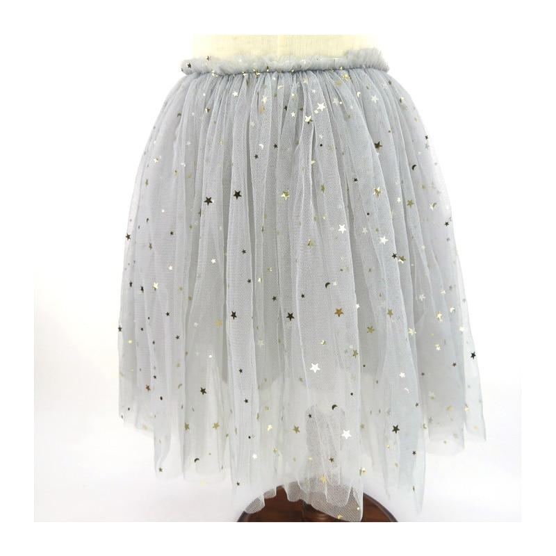 8b9230436 Faldas de moda para niñas con lentejuelas y estrellas, faldas de cultivo  para niñas, ropa tutú, malla, tul, Jupe, Fille, 18-13 años, DQ827