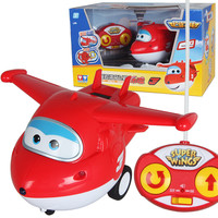 ABS Super Wings Remote Control Taxiing Airplane Robot Action Figures Super Wing RC helicopter for children gift Brinquedos
