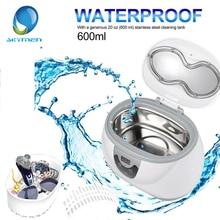 SKYMEN 600ml Ultrasonic Cleaner Jewelry Eyeglasses Denture Washing Bath Basket for Home Ultrasound Bath Sonic Cleaning Machine