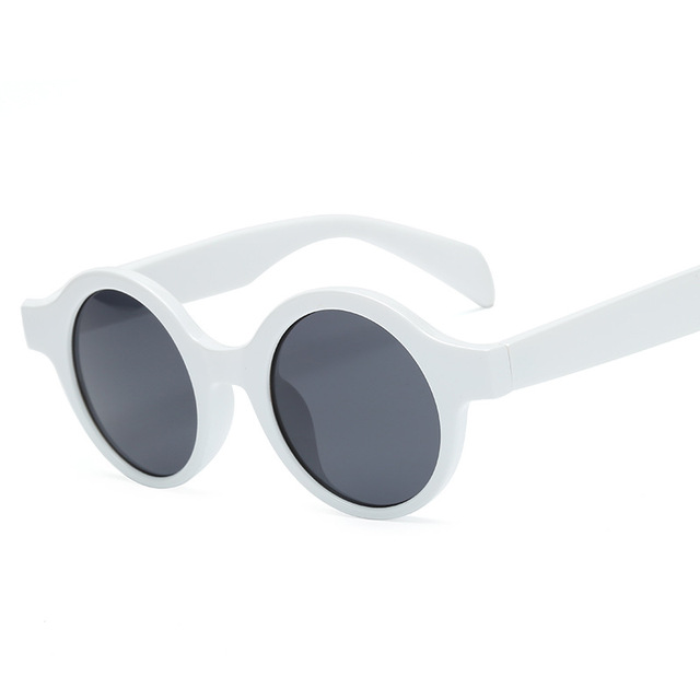 2019 Hot Vintage Round Sunglasses Women Men Classic Gafas Oculos Retro Black Lenes Small Sun Glasses  UV400 protection