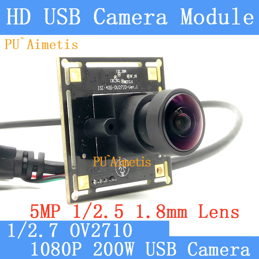 PU`Aimetis 170degree Surveillance camera 1080P Full Hd 30fps High Speed OV2710 Mini CCTV Android Linux UVC USB Camera Module pu aimetis hd mini surveillance cameras 720p hd 170 degree wide viewing angle usb2 0 cctv camera module