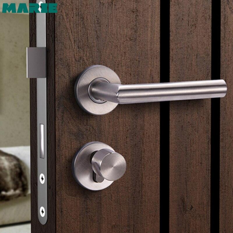 LH1003 #304 tubo de aço inoxidável alavanca maçaneta da porta alça