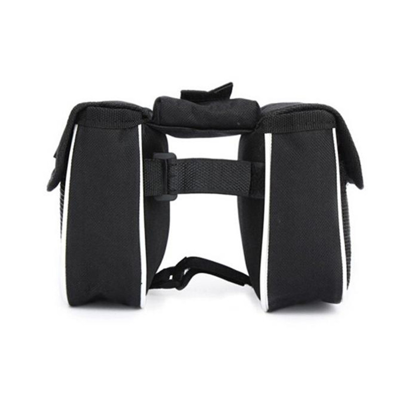 High Quality Bicycle Cycling Front Frame Tube Handlebar Pannier Double Pouch Phone Bag Portable Pratical Bike