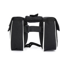 High Quality Bicycle Cycling Front Frame Tube Handlebar Pannier Double Pouch Phone Bag Portable Pratical Bike Accessories