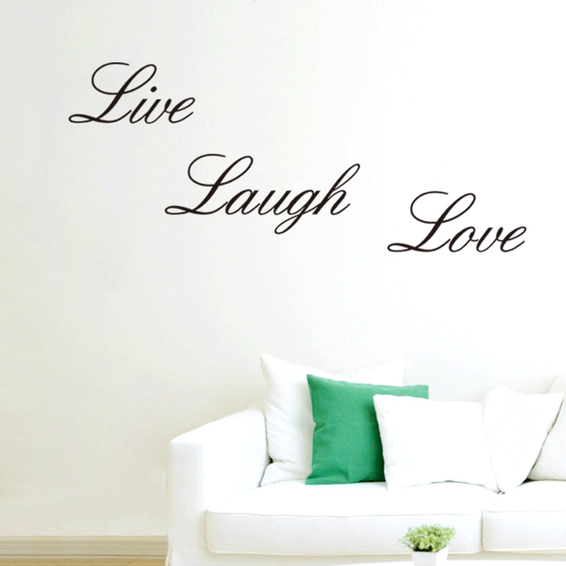 Home garden home decor live laugh love wall art quote wall for Live laugh love wall art
