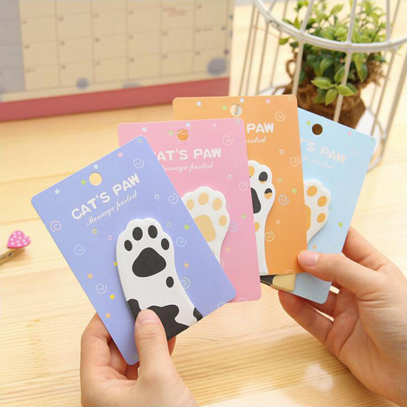 Kawaii Cats Self-Adhesive Memo Pad Sticky Notes Post It Decoratin Stickers Office Stationery and School Supplies 1PCS/30 Pages