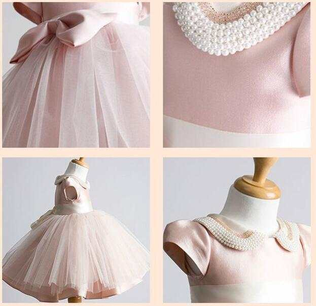 Hot Perle Kragen Baby Mädchen Kleid Taufe Kleid Für Mädchen Infant 1 Jahr Geburtstag Kleid Für Baby Taufe Kleid Für Infant