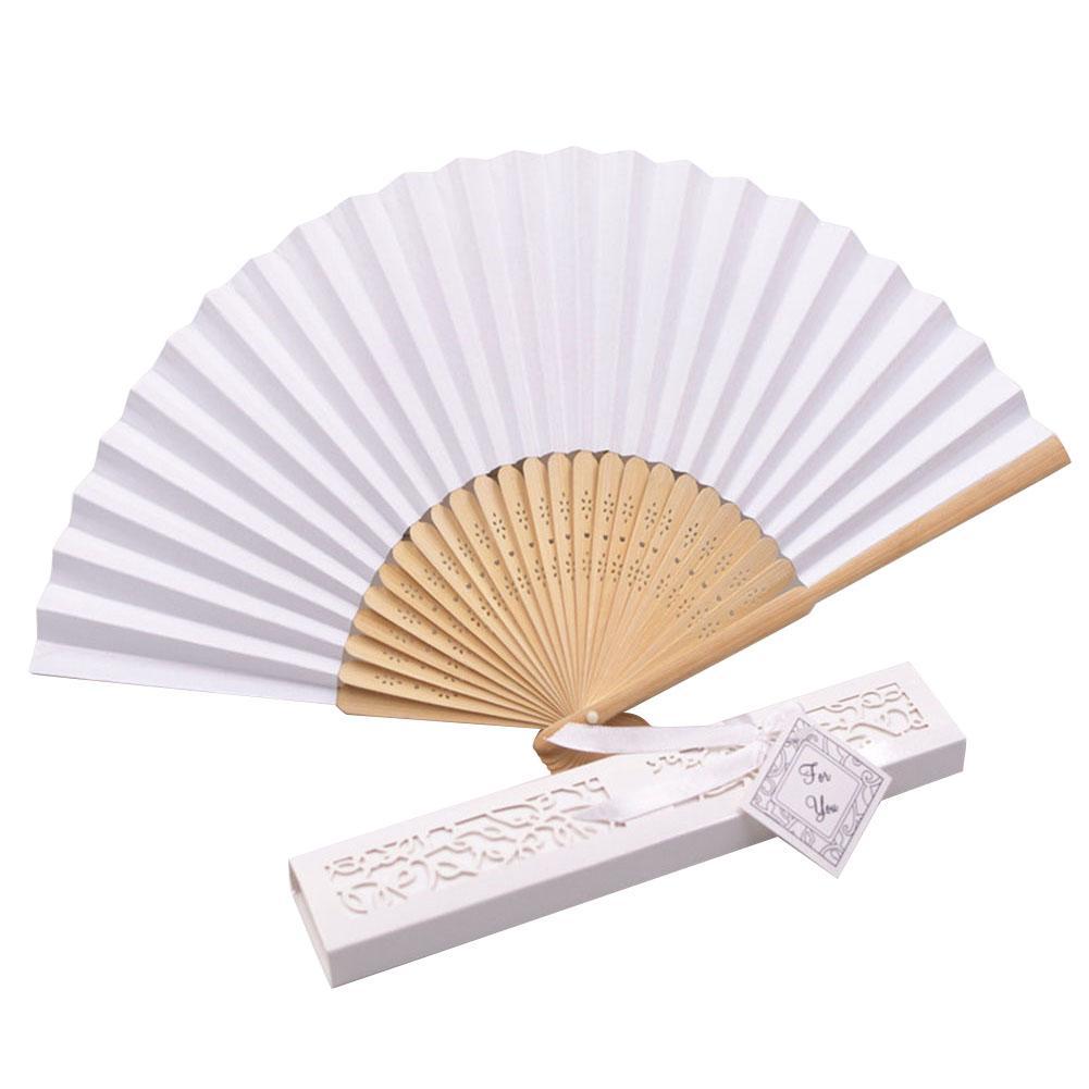 2019 NEW Chinese Style Hand Held Fan Bamboo Silk Folding Fan Party Wedding Decor Performance Yarn Bag Folding Fan