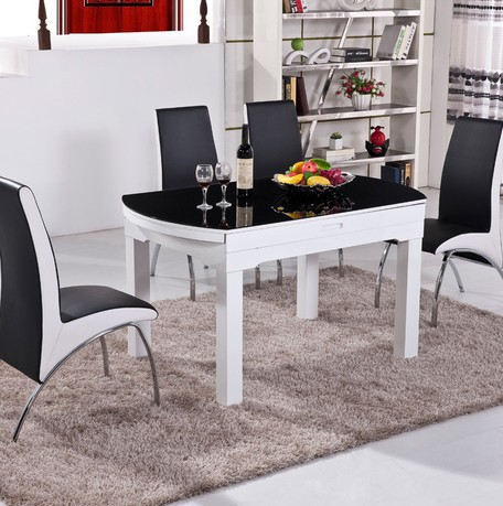 Modern Folding Dining Table/functional Dining Table/table For 6  Person/round Dining