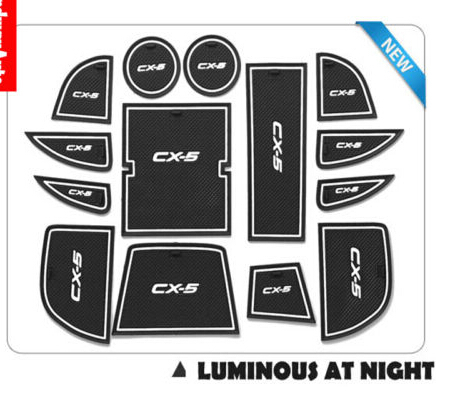 Luminous Non-slip Interior door Cup Holder Mat Pads for mazda CX-5 CX5 2012 2013 2014 for mazda cx 5 cx5 2nd gen 2017 2018 interior custom car styling waterproof full set trunk cargo liner mats tray protector