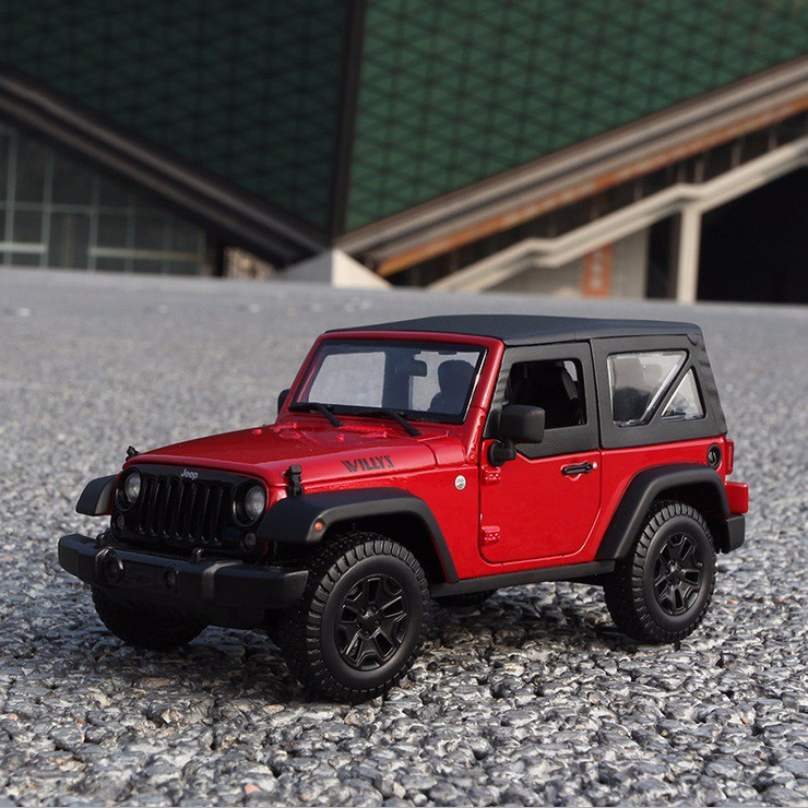 1/18 Scale Jeep Wrangler Willys  Alloy Diecast Car Off-road Vehicle  Model boys toy brinquedo gift with box openable door maisto jeep wrangler rubicon fire engine 1 18 scale alloy model metal diecast car toys high quality collection kids toys gift