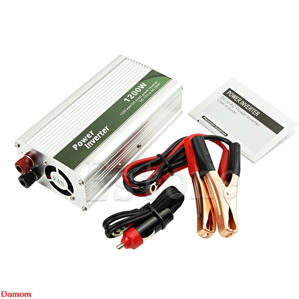 <font><b>1200W</b></font> <font><b>DC</b></font> 12V to <font><b>AC</b></font> 220V Car Power Inverter Charger Converter for Electronic New image