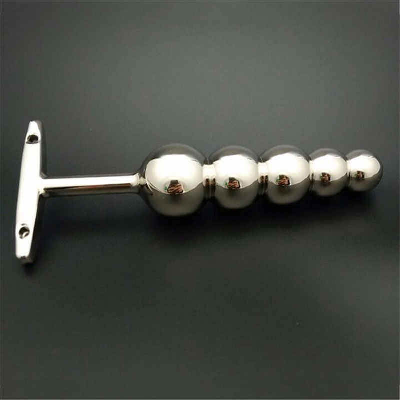5 Ball Metal Butt Plug Toys For Anal Vaginal Masturbation Anal Dildo Plug Metal Anal Beads