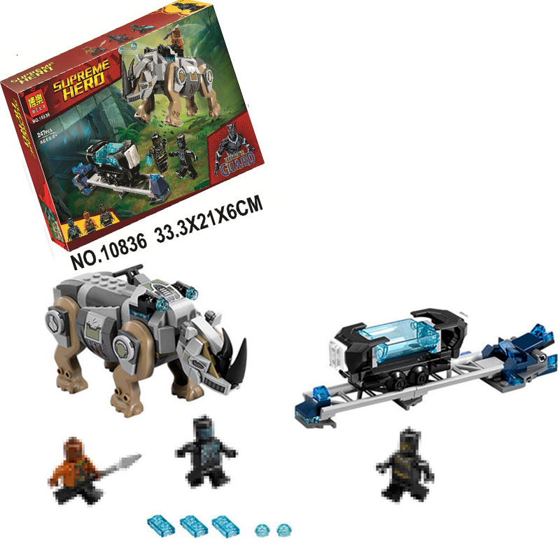 Marvel Super Heroes Rhino Face-Off by the Mine Building Bricks Blocks Toys Compatible with Legoings Black Panther 76099 single sale the avengersr building blocks killer croc dolls super heroes black panther hulk black widow chrom vision kids toys