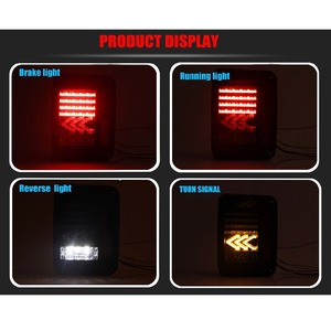 Image 5 - LED Tail Lights Reverse Lamps Amber Arrow Turn Signal EU / US For Jeep Wrangler JK 2007 2017 Daytime Running Lights