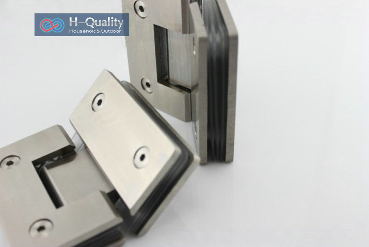 Thicken 135 Degrees Precision Cast Stainless Steel Glass Door Clamp, Glass Clip, Shower Door Glass Clip, Glass Bracket