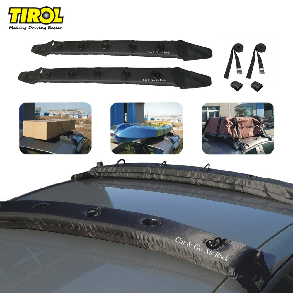 T10021b 2PCS of Inflatable Universal Roof Top Rack and Luggage Carrier soft roof rack for kayaks, SUP, luggage