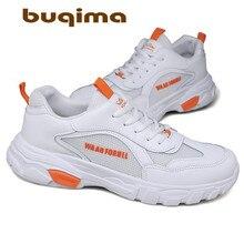 Buqima vier seizoenen heren ademende sportschoenen mesh schoenen vliegende geweven fitness trend casual riem 39-44 mete