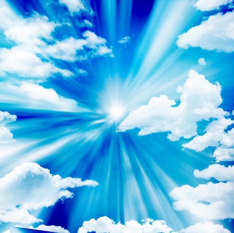 Sunny blue sky ceiling Landscape wallpaper murals ceilings ...