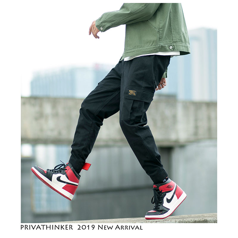Privathinker Men Streetwear Hip Hop Cargo Pants 2019 Harajuku Track Pants Pockets Mens Korean Fashions Joggers Pants Sweatpants