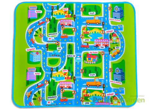 Kids Car Road Track Children Play Mat Pad Rug Lego Big 1