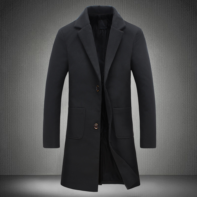 Long Black Coats Men Cloak For Male Trench Coat Especially With ...