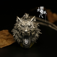 Unique 42*38mm Wolf Head Necklace Jewelry 925 Sterling Silver The Witcher Pendant Medallion Wizard Wolf 3 Women Men Collar