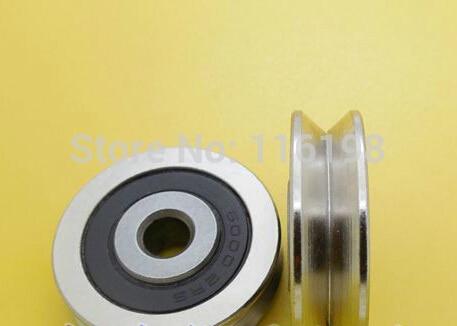 где купить 1 PCS TV0630 TV0630VV V-Groove pulley ball bearings 6*30*8 mm Track guide roller bearing по лучшей цене