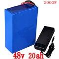 48V batterij 48V 20AH elektrische fiets batterij 48v 20ah lithium ion batterij 48V 1000W 2000W batterij met 54.6V 2A charger