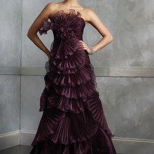 Классические зубчатые декольте винограда органзы Длинные вечерние платья