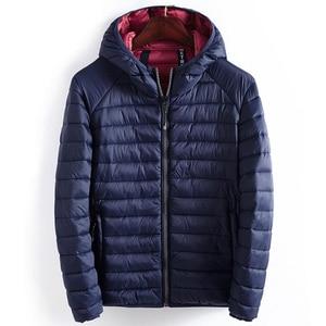 Image 2 - ฤดูหนาวชายเสื้อHooded Casualน้ำหนักเบาอุ่นฝ้ายพื้นฐานแจ็คเก็ตOutwearบุรุษเสื้อWindbreakerเสื้อผ้าใหม่