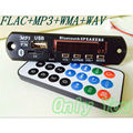 DIY 12V Bluetooth Audio Receiver MP3 Decoder Board FLAC/WAV/WMA/MP3 Decoding Module Player with TF Slot Support U disk AUX FM