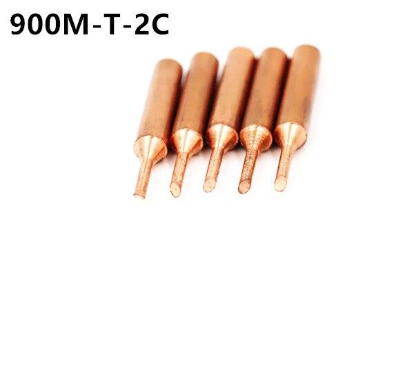 900M-T-2C Pure Copper Soldering Tip Welding Sting For Hakko 936 FX-888D Saike 909D 852D+ 952D Diamagnetic DIY 1C 3C 4C K B I SK