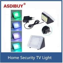 Plug and play Anti-theft TV Video Surveillance Motion sensor lights Fake simulator TV flash LED house protection light