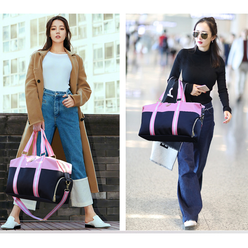 Resväska Kvinnor 2018 Nya Vattentäta Oxford Mjuka Rosa Svarta - Väskor för bagage och resor - Foto 6
