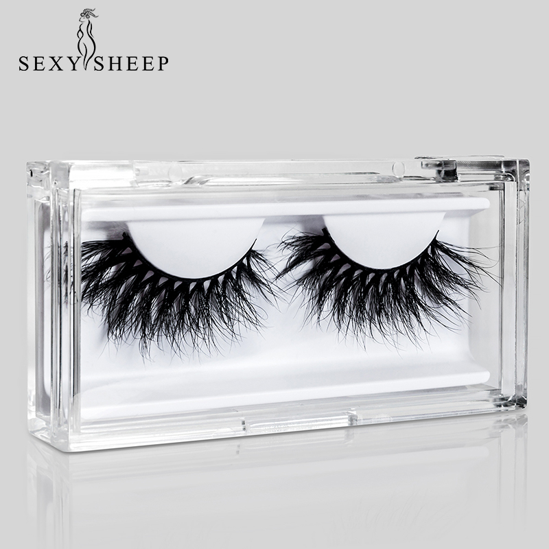 SEXYSHEEP LON Series 25mm 3D Mink Eyelashes Exquisite Packaging Style Diamond Transparent Effect